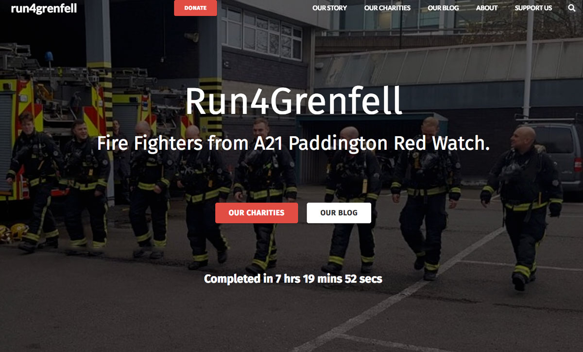 Supporting London's Fire Fighters